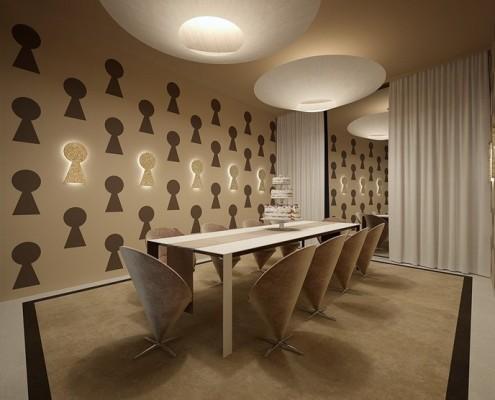 Karmelowa jadalnia w nietuzinkowym wydaniu Concept wnętrza