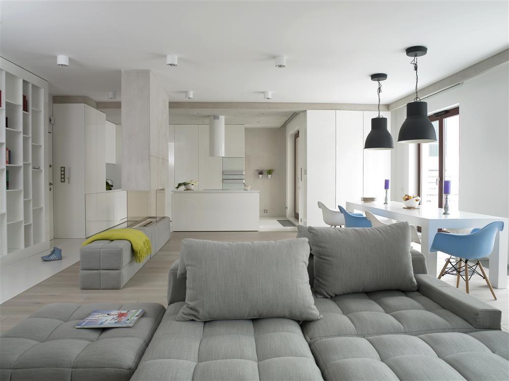 Salon połączony z kuchnią i jadalnią  Architektura   -> Otwarta Kuchnia Jadalnia Salon