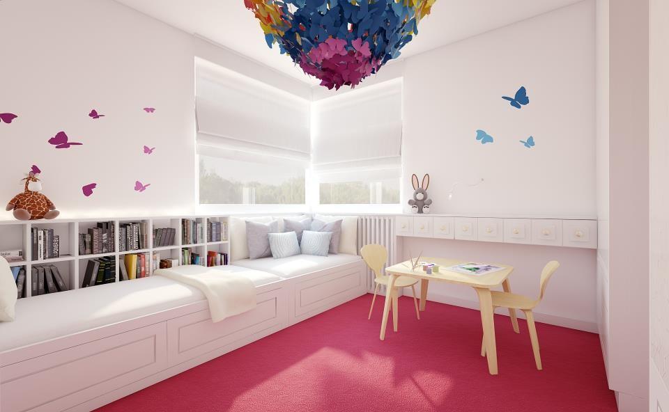 motylkowy pok j dla dziewczynki inspiracja homesquare. Black Bedroom Furniture Sets. Home Design Ideas