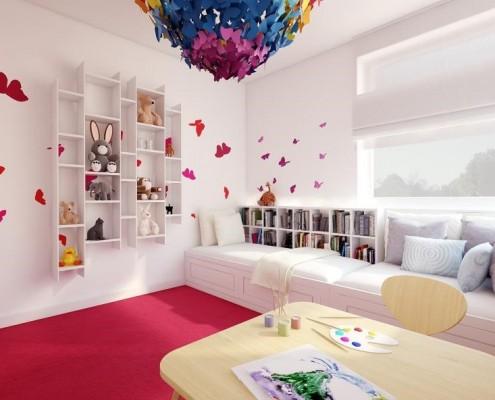 Motylkowy pokój dla dziwczynki