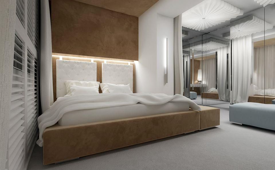 Aranżacja nowoczesnej sypialni - pomysł na sypialnię
