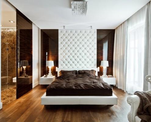 Klasyczna sypialnia z łazienką - pomysł na sypialnię