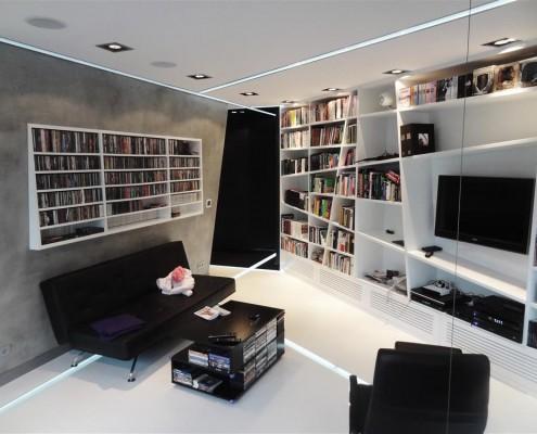 Jasny nowoczesny salon