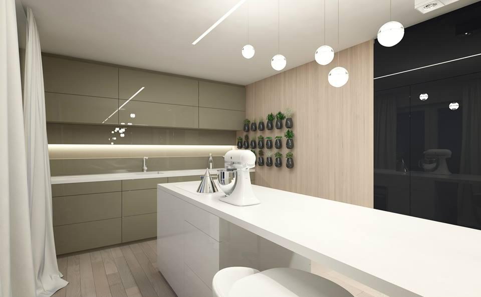 Nowoczesna kuchnia z wyspą  Architektura, wnętrza, technologia, design  Hom