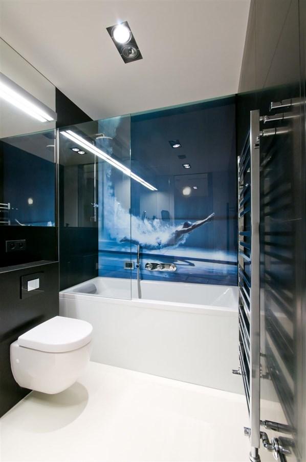 Czarno Biała łazienka W Nowoczesnym Wnętrzu Homesquare