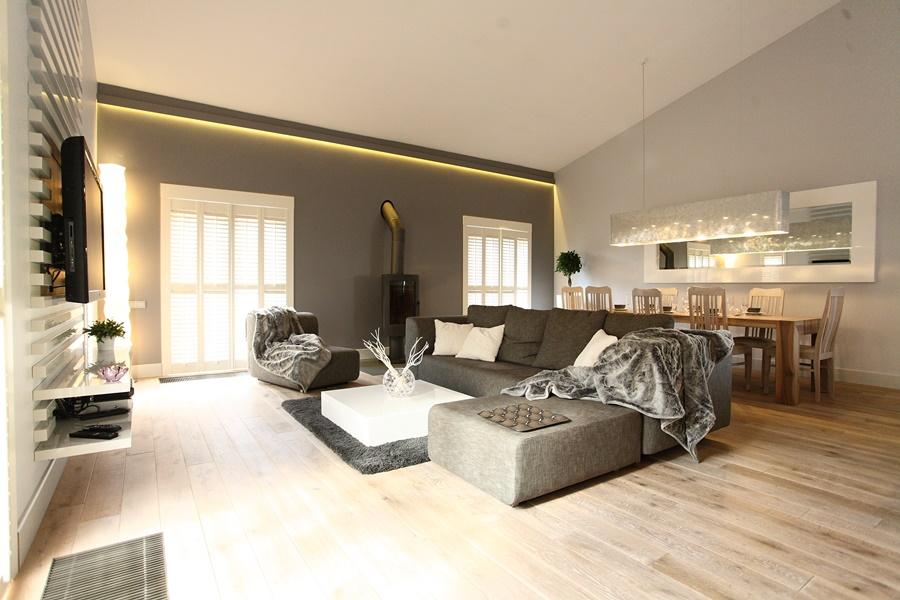 salon w stylu skandynawskim architektura wn trza. Black Bedroom Furniture Sets. Home Design Ideas