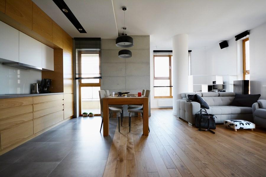 Styl Skandynawski W Kuchni Połączonej Z Salonem Inspiracja