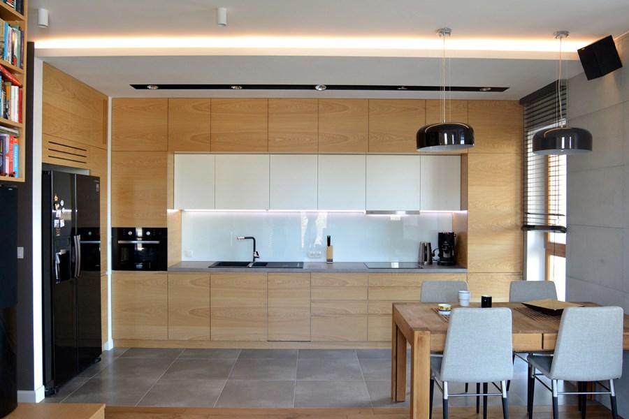Styl skandynawski w kuchni połączonej z salonem  Architektura, wnętrza, tech   -> Kuchnia W Bloku W Stylu Skandynawskim