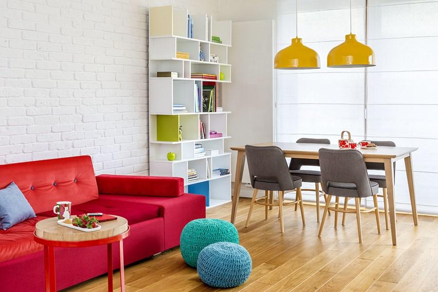 Pomysł na kolorowy salon - kolory w salonie