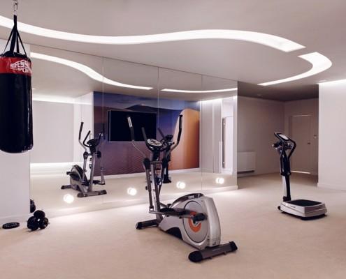 Domowa siłownia - styl nowoczesny