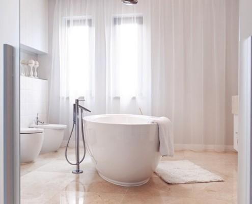 Elegancka łazienka – wanna wolnostojąca