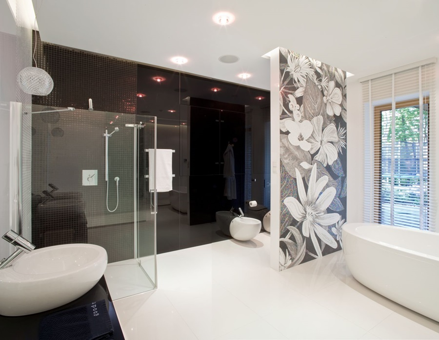 łazienka W Czerni I Bieli Inspiracja Homesquare