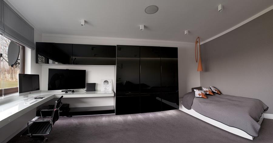 Sypialnia Połączona Z Gabinetem Inspiracja Homesquare