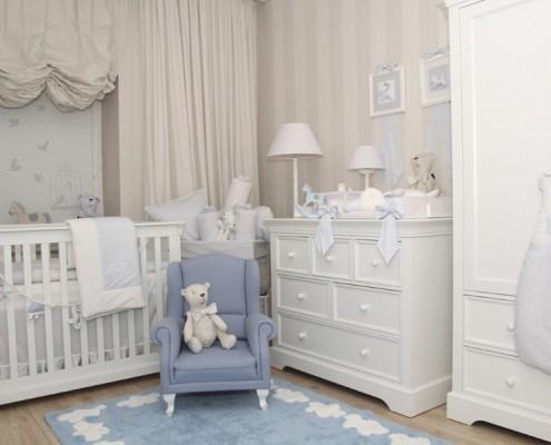 Pokój dla chłopca – łóżeczko niemowlęce