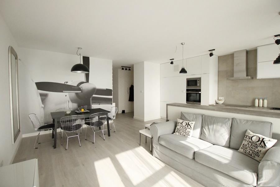 Połączenie kuchni i salonu w nowoczesnym stylu - Architektura, wnętrza, technologia, design ...