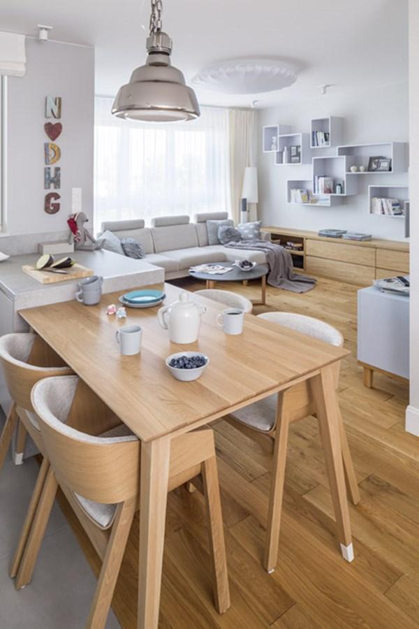 Salon otwarty na kuchni styl nowoczesny architektura for Polaczenie kuchni z salonem