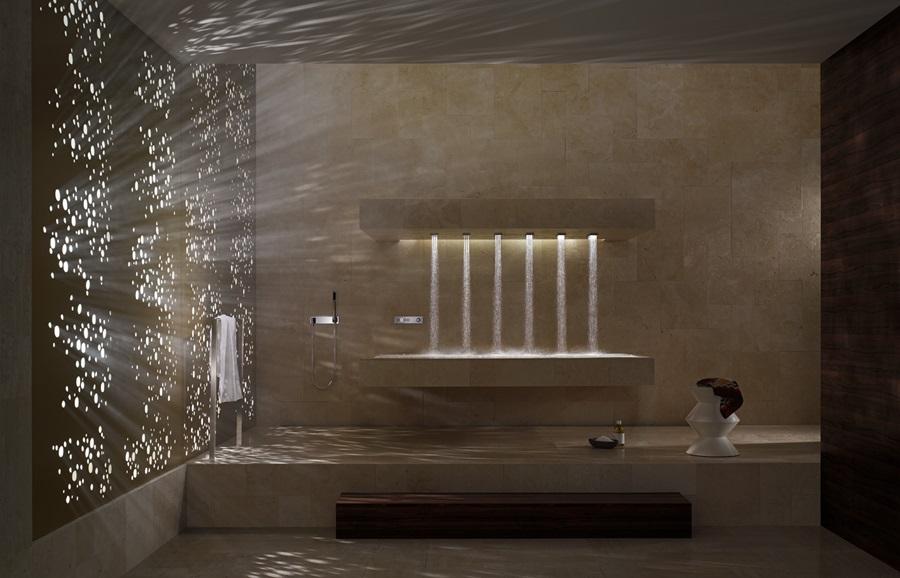 Nowoczesny prysznic horizontal shower nowe horyzonty k pieli architektura wn trza - Dornbracht horizontal shower ...