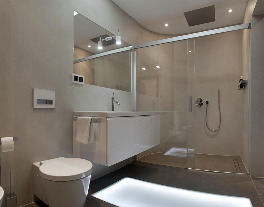 Przytulna łazienka Z Kabiną Prysznicową Inspiracja