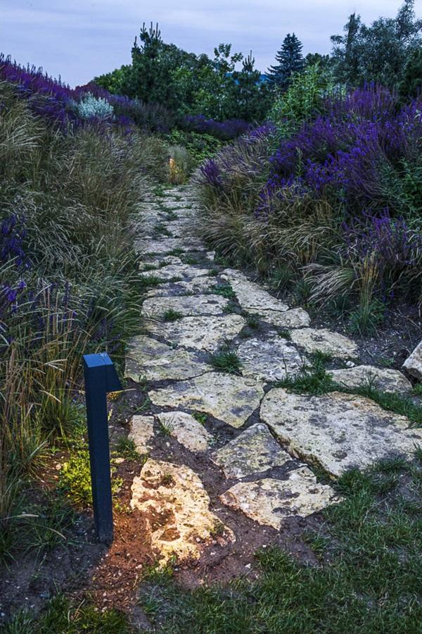 Kamienna ścieżka w angielskim ogrodzie