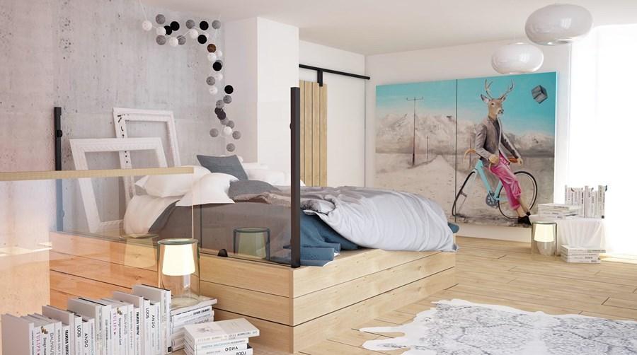 Styl nowoczesny i styl skandynawski w sypialni