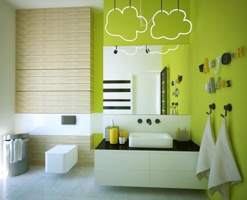 Zielona łazienka w nowoczesnym stylu