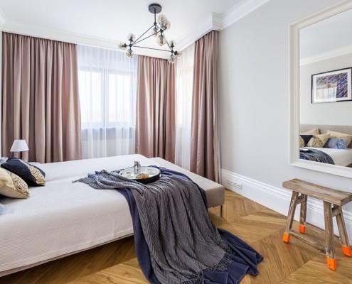 Sypialnia w szarościach