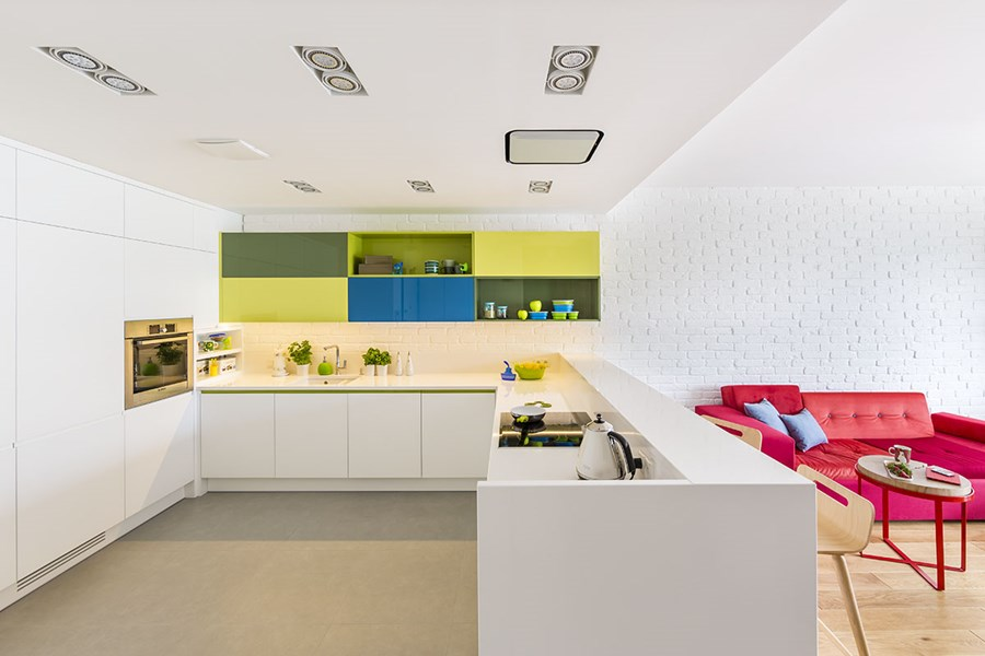 Intensywne kolory w kuchni