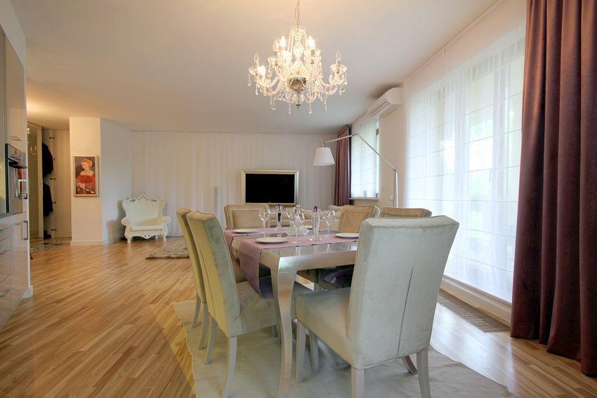 Eklektyczny salon z kuchnią i jadalnią  Architektura, wnętrza, technologia,   -> Salon Z Kuchnią I Jadalnią Aranżacje