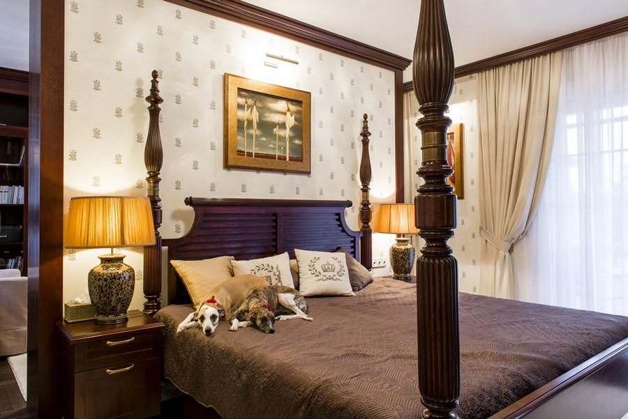 Ekskluzywna sypialnia w klasycznym stylu - pomysł na sypialnię