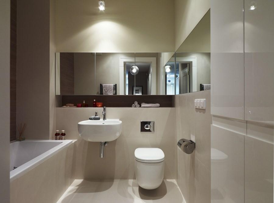Jasna łazienka O Niewielkim Metrażu Inspiracja Homesquare