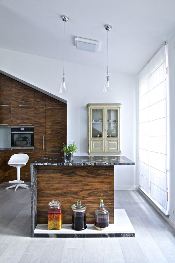 Salon na poddaszu połączony z kuchnią  Architektura   -> Kuchnie Na Poddaszu Z Jadalnia