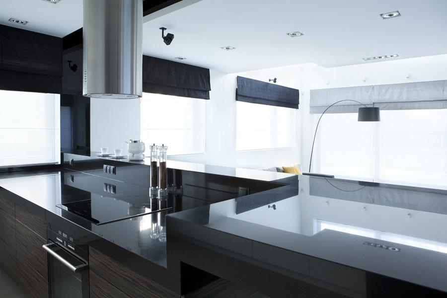 Minimalistyczny salon - Nowoczesne meble kuchenne