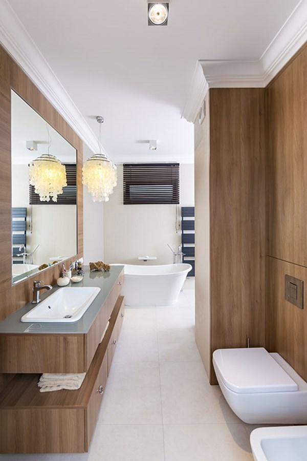 łazienka W Drewnie Inspiracja Homesquare