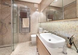 Łazienka w mozaice - pomysł na małą łazienkę