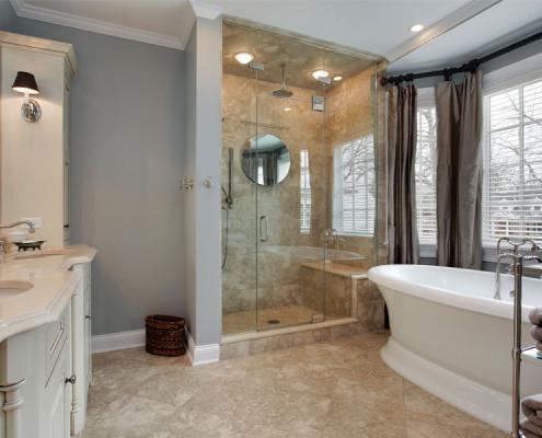 Luksusowa łazienka w stylu eklektycznym