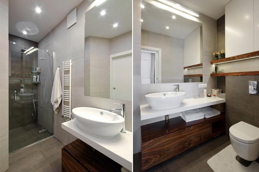 Nowoczesna łazienka z prysznicem - pomysł na małą łazienkę