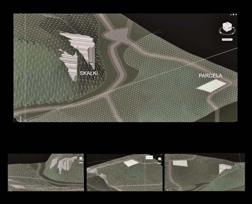 Planowanie położenia bryły domu i rozkładu ogrodu z uwzględnieniem naturalnego ukształtowania terenu.