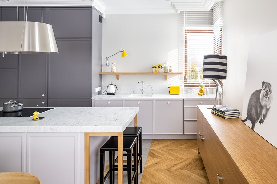 Kuchnia w salonie  Architektura, wnętrza, technologia   -> Kuchnie W Salonie