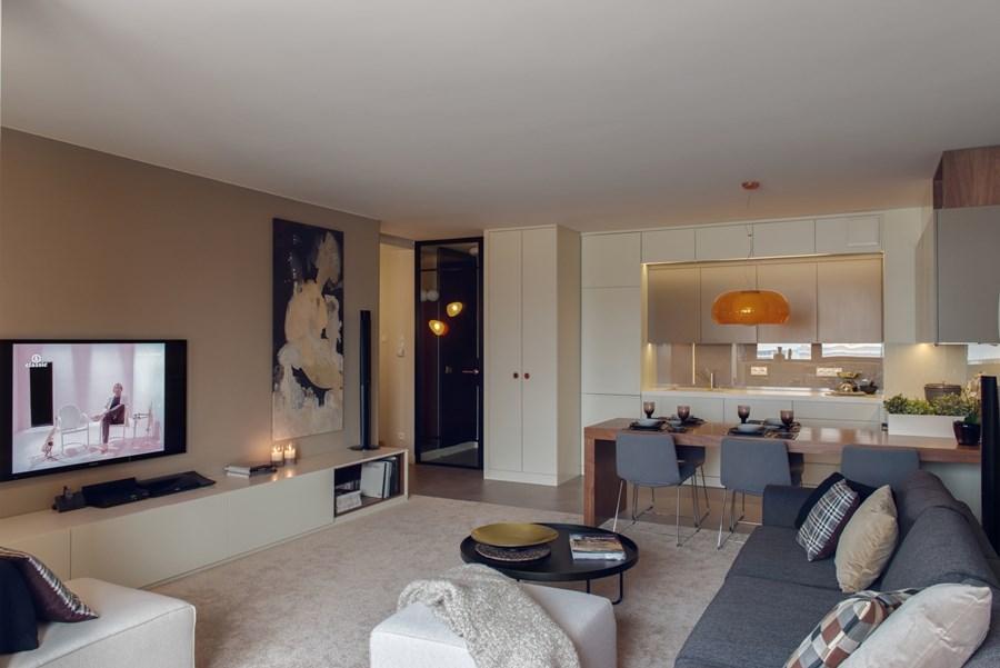 Projekt salonu z kuchnią  Architektura, wnętrza, technologia, design  HomeS   -> Kuchnia Z Salonem Projekt