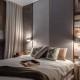 Aranżacje nowoczesnej łazienki - sypialnia w beżach