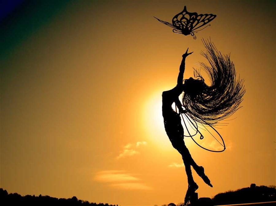 Anahi Sunset = ozdoby ogrodowe wróżki