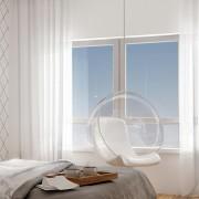 Jasna sypialnia w bieli