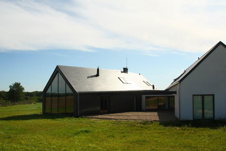 Dom Stodola Ze Szklana Elewacja on Steel Homes Floor Plans