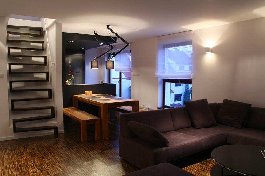 Kuchnia z salonem w niecodziennych kolorach  Architektura   -> Inspiracje Kuchnia Z Salonem