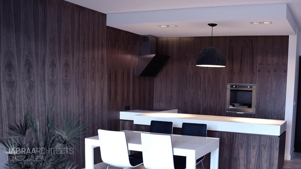 Kuchnia Połączona Z Jadalnią W Brązie Inspiracja Homesquare