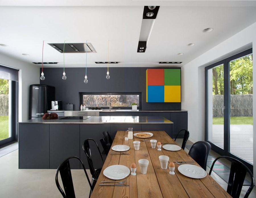 kuchnia po��czona z jadalni� inspiracja homesquare