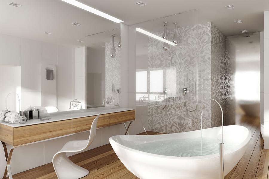 �azienka w stylu glamour architektura wnętrza