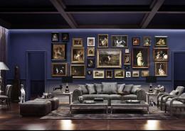 Fioletowy salon - modern classic
