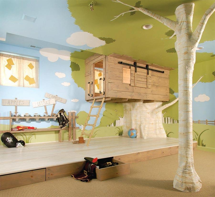 Oryginalny Pokj Dziecicy Stumilowy Las Architektura