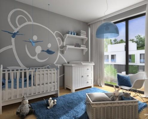 Pokój niemowlaka w odcieniach błękitu